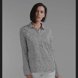 GAP Black & White Floral Popover Shirt Woman's XL